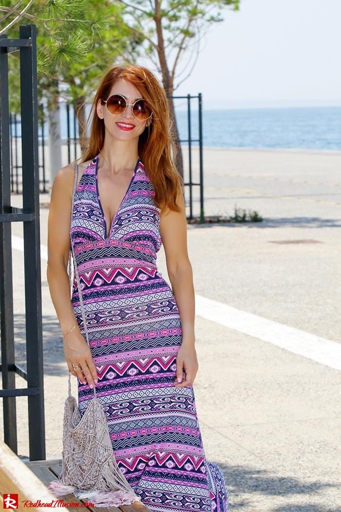 Redhead Illusion - Fashion Blog by Menia - Ethnic Trip - Asos Long Dress-10