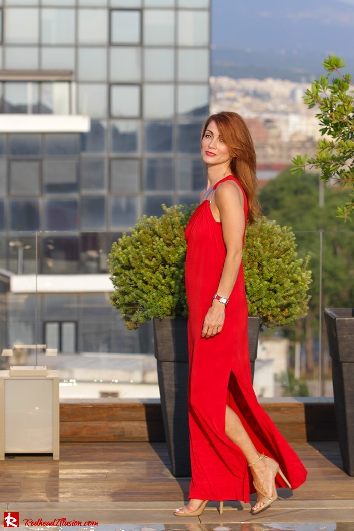 Redhead Illusion - Fashion Blog by Menia - Red party - Michael Kors Red dress-03