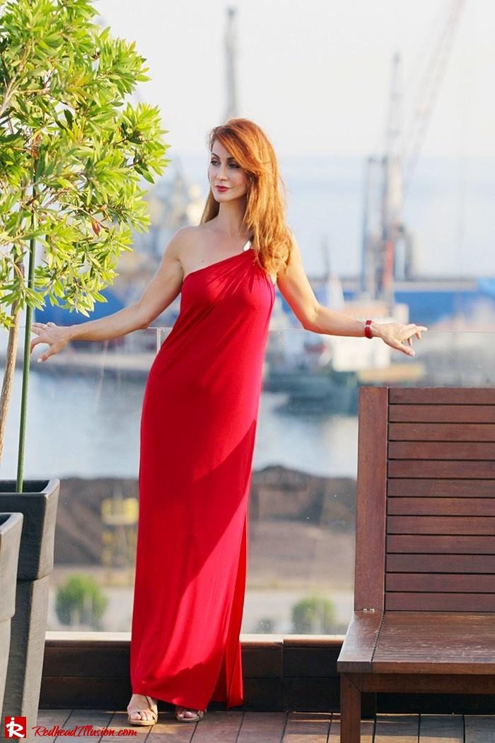 Redhead Illusion - Fashion Blog by Menia - Red party - Michael Kors Red dress-04