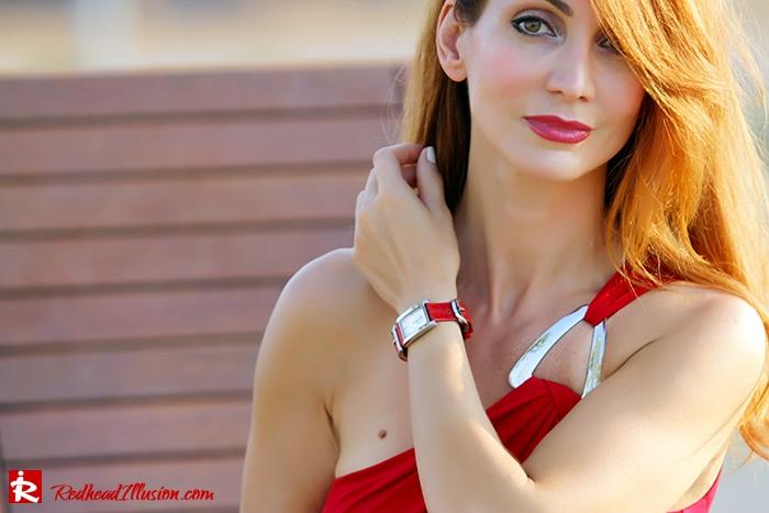 Redhead Illusion - Fashion Blog by Menia - Red party - Michael Kors Red dress-05