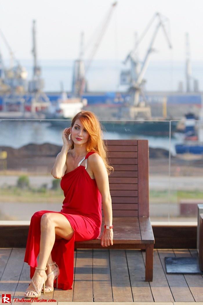 Redhead Illusion - Fashion Blog by Menia - Red party - Michael Kors Red dress-06