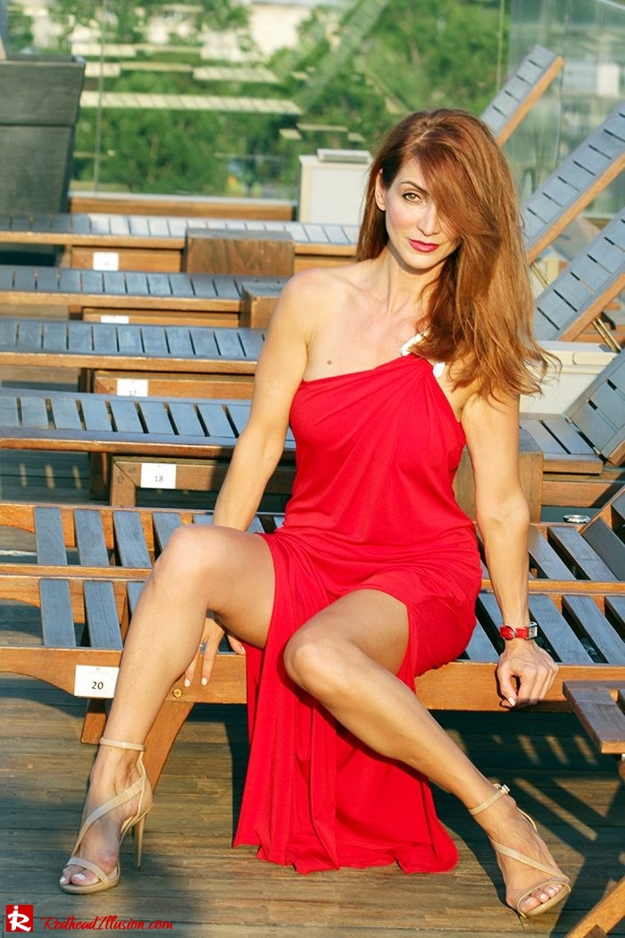 Redhead Illusion - Fashion Blog by Menia - Red party - Michael Kors Red dress-08