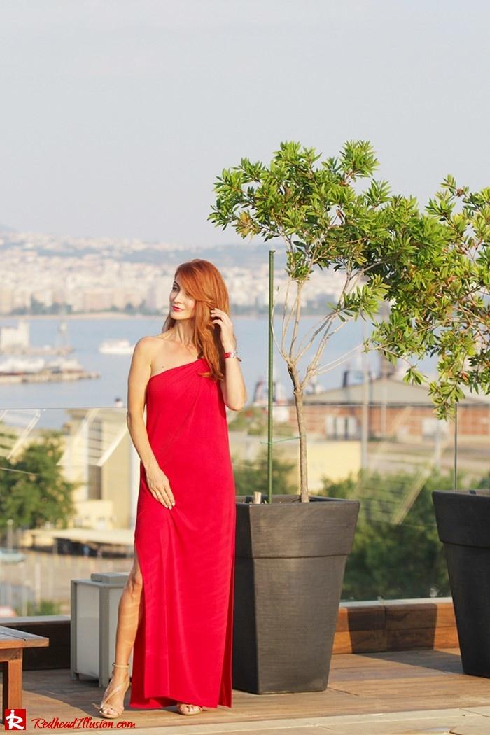 Redhead Illusion - Fashion Blog by Menia - Red party - Michael Kors Red dress-09