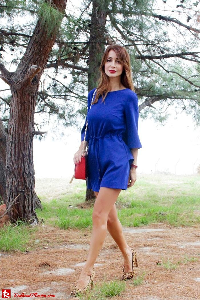 Redhead Illusion - Fashion Blog by Menia - Lost... in blue - Playsuit-04