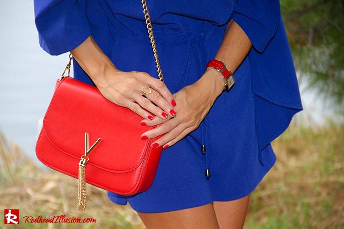 Redhead Illusion - Fashion Blog by Menia - Lost... in blue - Playsuit-05