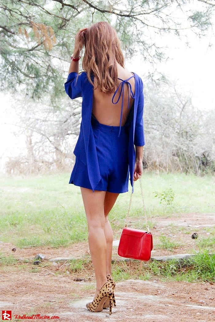 Redhead Illusion - Fashion Blog by Menia - Lost... in blue - Playsuit-11