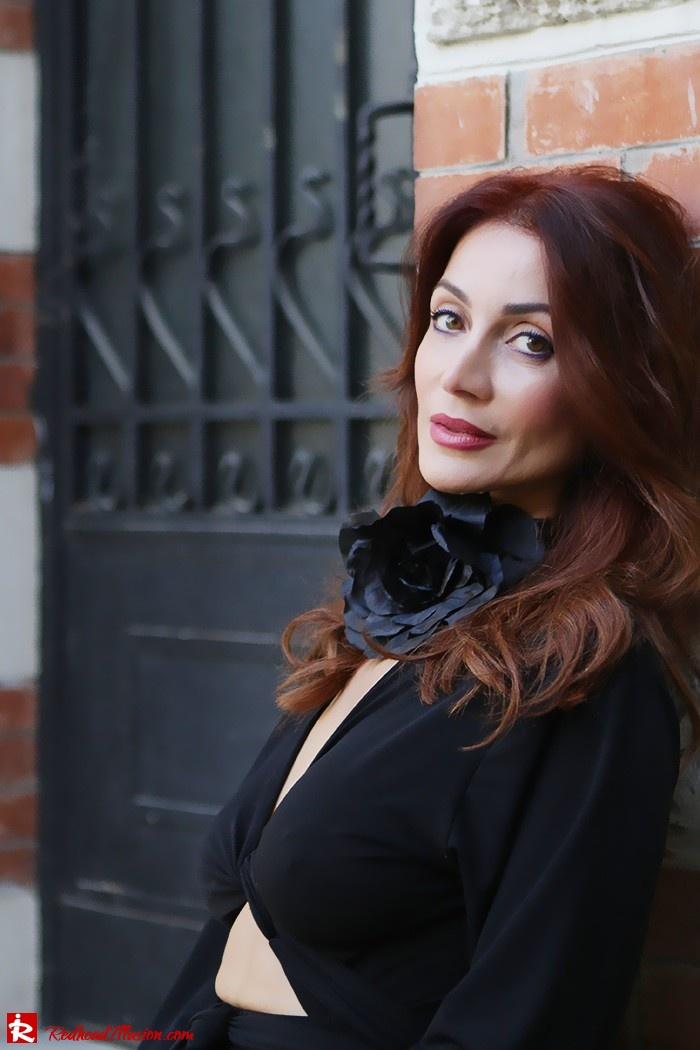Redhead Illusion - Fashion Blog by Menia - Black Flower - Black Dress - Zara Bag-09