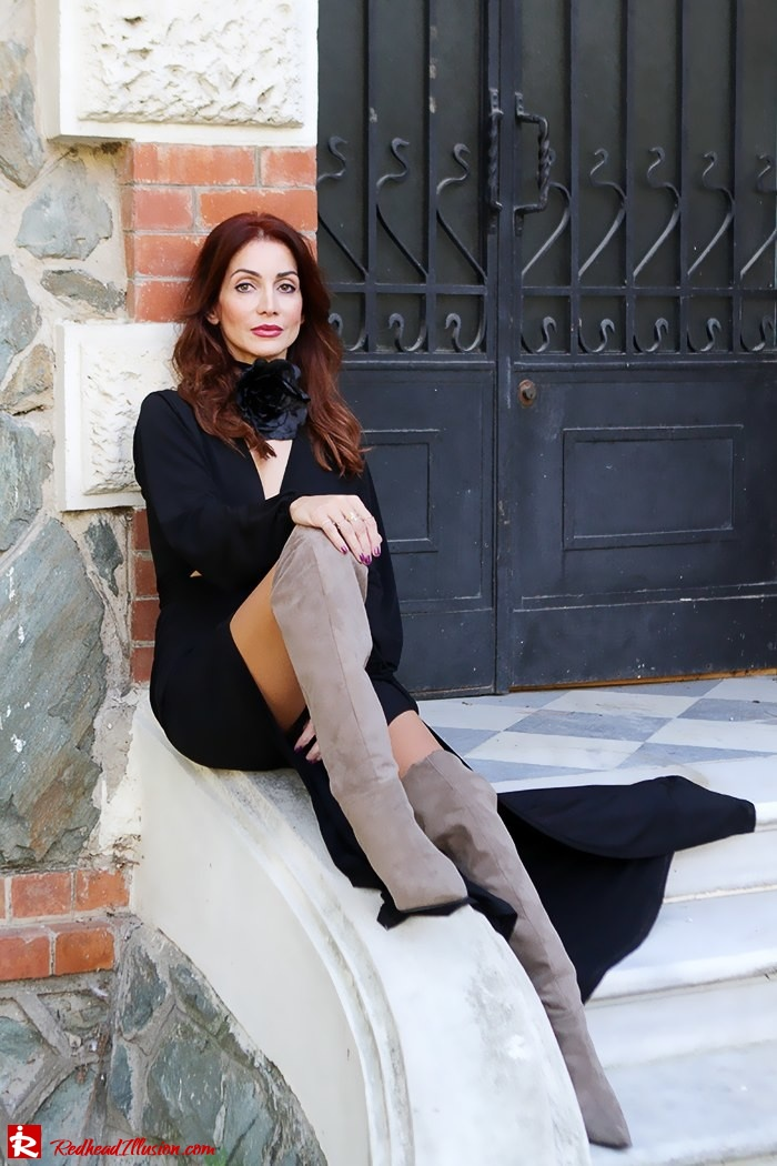 Redhead Illusion - Fashion Blog by Menia - Black Flower - Black Dress - Zara Bag-11