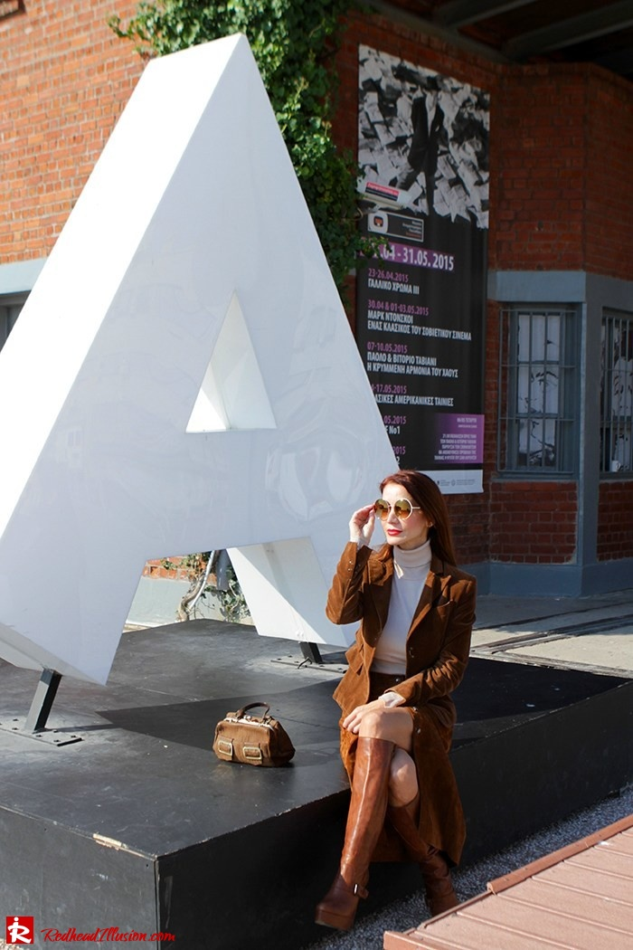 Redhead Illusion - Fashion Blog by Menia - Cafe au lait - Zara- Skirt - Karen Millen Blouse-03