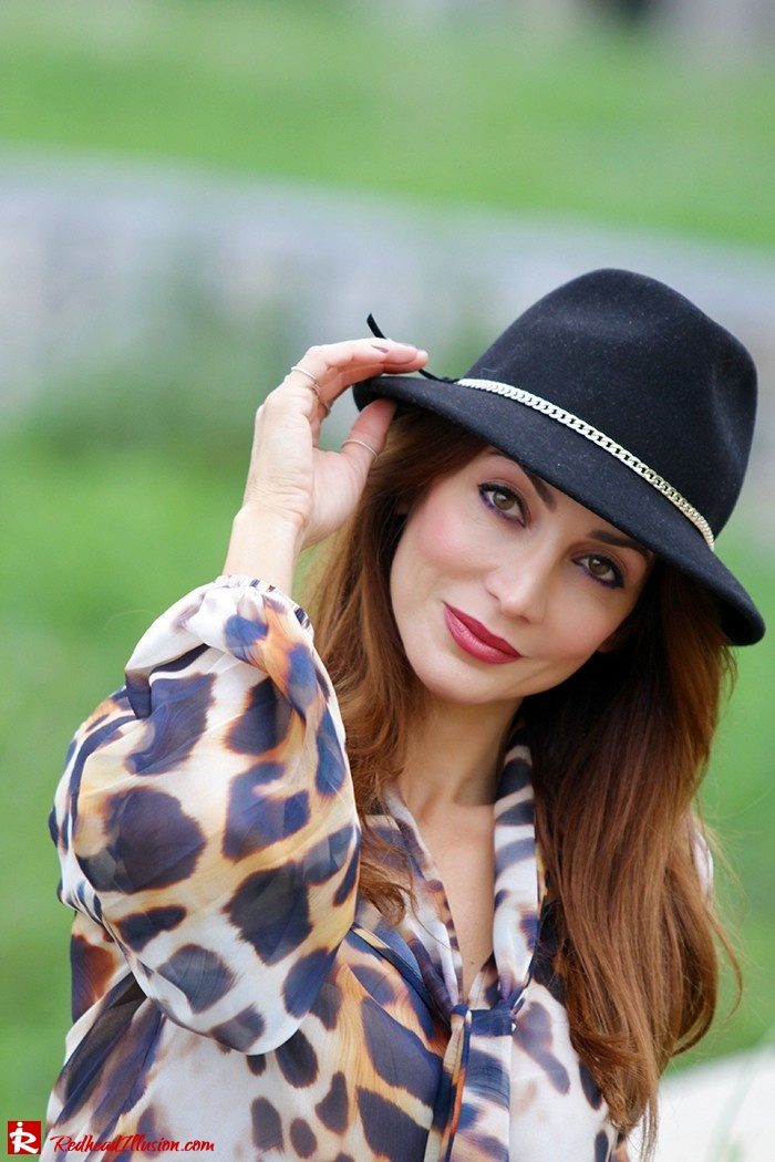 Redhead Illusion - Fashion Blog by Menia - Wild thing - Denny Rose Shirt - Massimo Dutti Hat-06