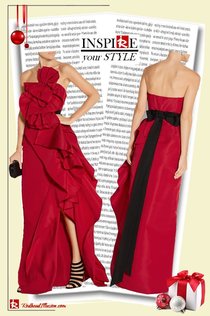 Redhead Illusion - Fashion Blog by Menia - Inspire your style - Red- Ruffled Gown-02