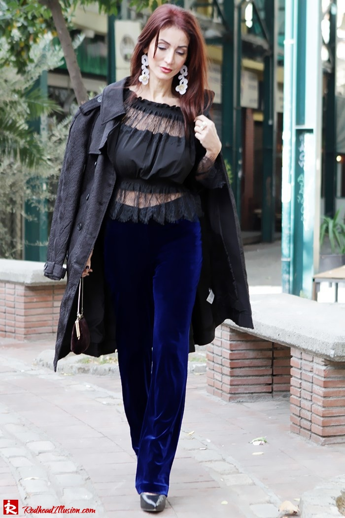 Redhead Illusion - Fashion Blog by Menia - Lace and Velvet - Victoria's Secret Blouse-02