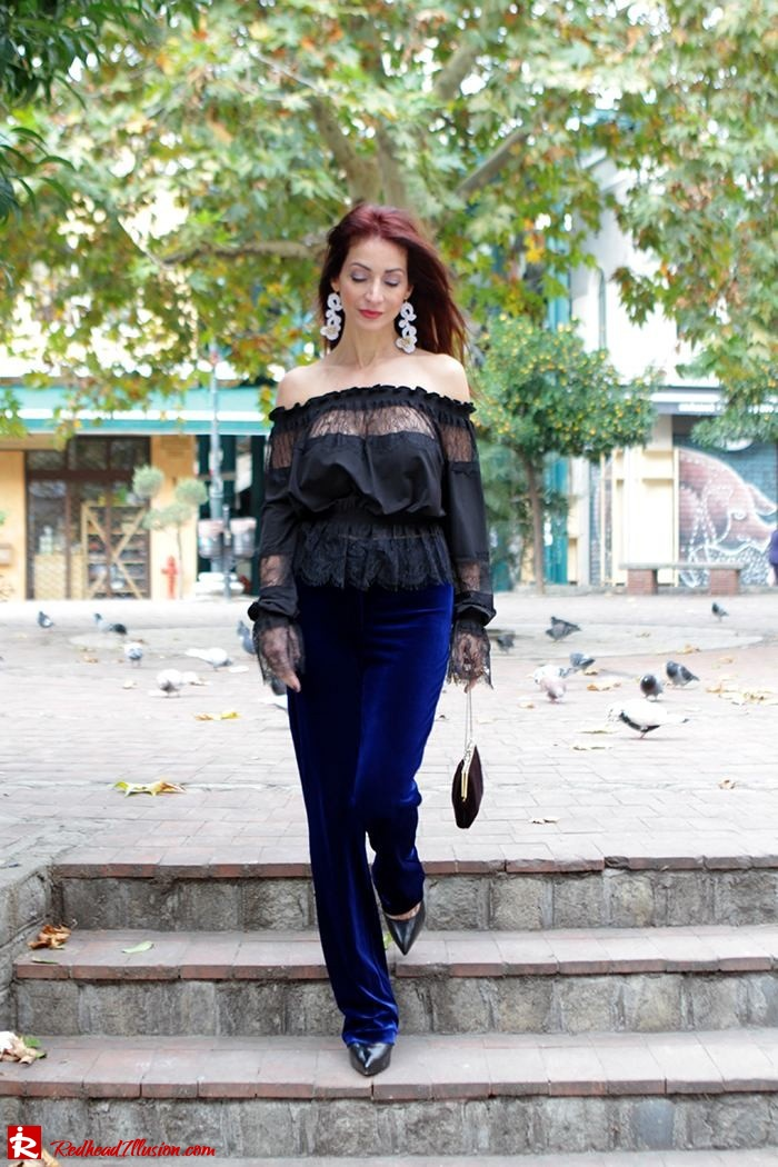 Redhead Illusion - Fashion Blog by Menia - Lace and Velvet - Victoria's Secret Blouse-09