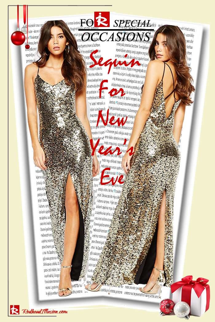 Redhead Illusion - Fashion Blog by Menia - Sequin for New Year's Eve-02