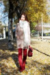 Redhead Illusion - Fashion Blog by Menia - Cozy and Casual - Knitted Dress - High Boots-01
