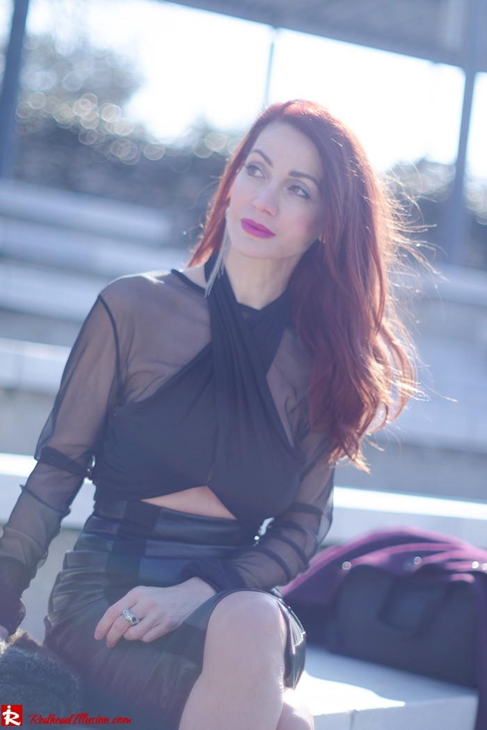 Redhead Illusion - Fashion Blog by Menia - A cropped... day - Yoins Top - Zini Skirt - Boss Coat-03