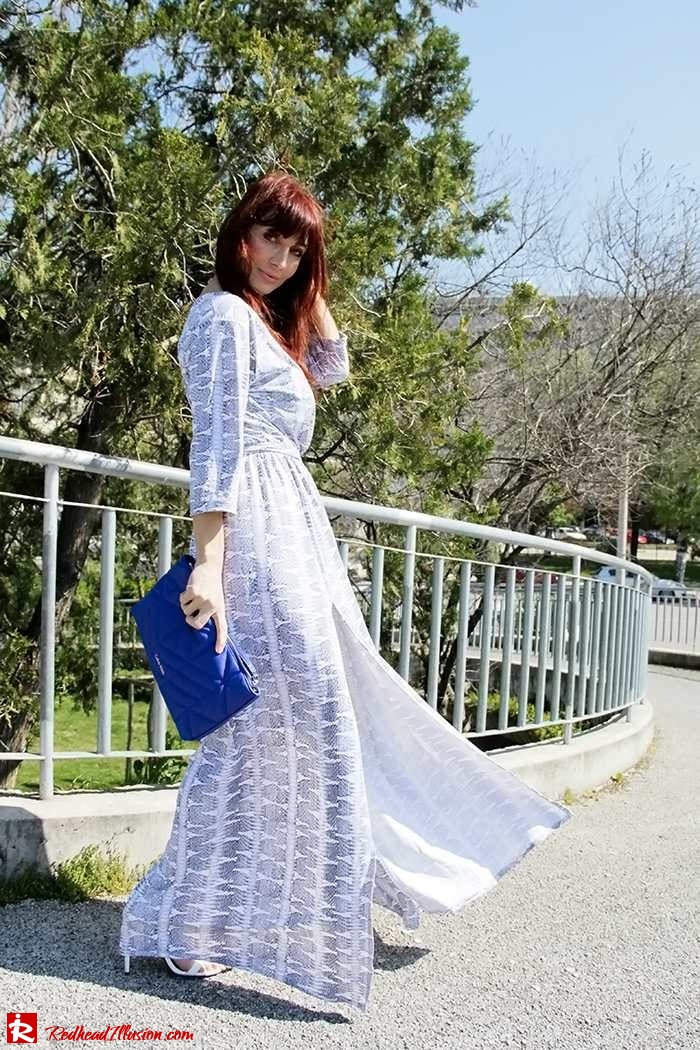 Redhead Illusion - Fashion Blog by Menia - Twisting around - Wrap Maxi Dress-07