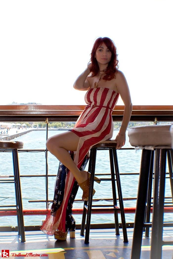 Redhead Illusion - Fashion Blog by Menia - Next exit: American Dream - Denny Rose Dress - H&M Clogs-06