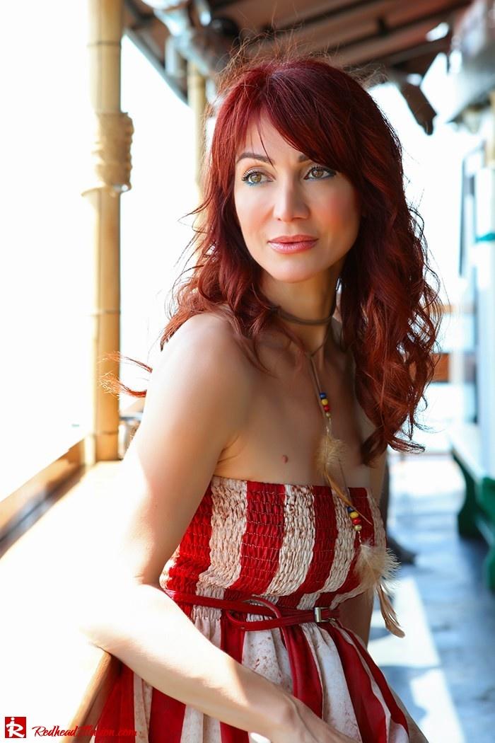 Redhead Illusion - Fashion Blog by Menia - Next exit: American Dream - Denny Rose Dress - H&M Clogs-07