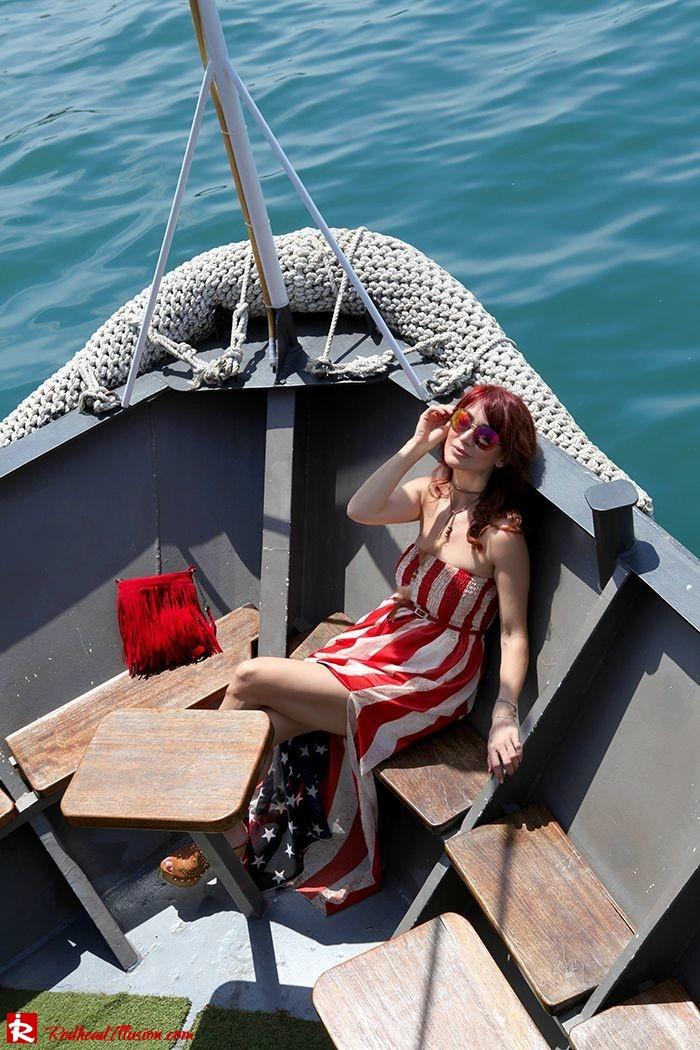 Redhead Illusion - Fashion Blog by Menia - Next exit: American Dream - Denny Rose Dress - H&M Clogs-10