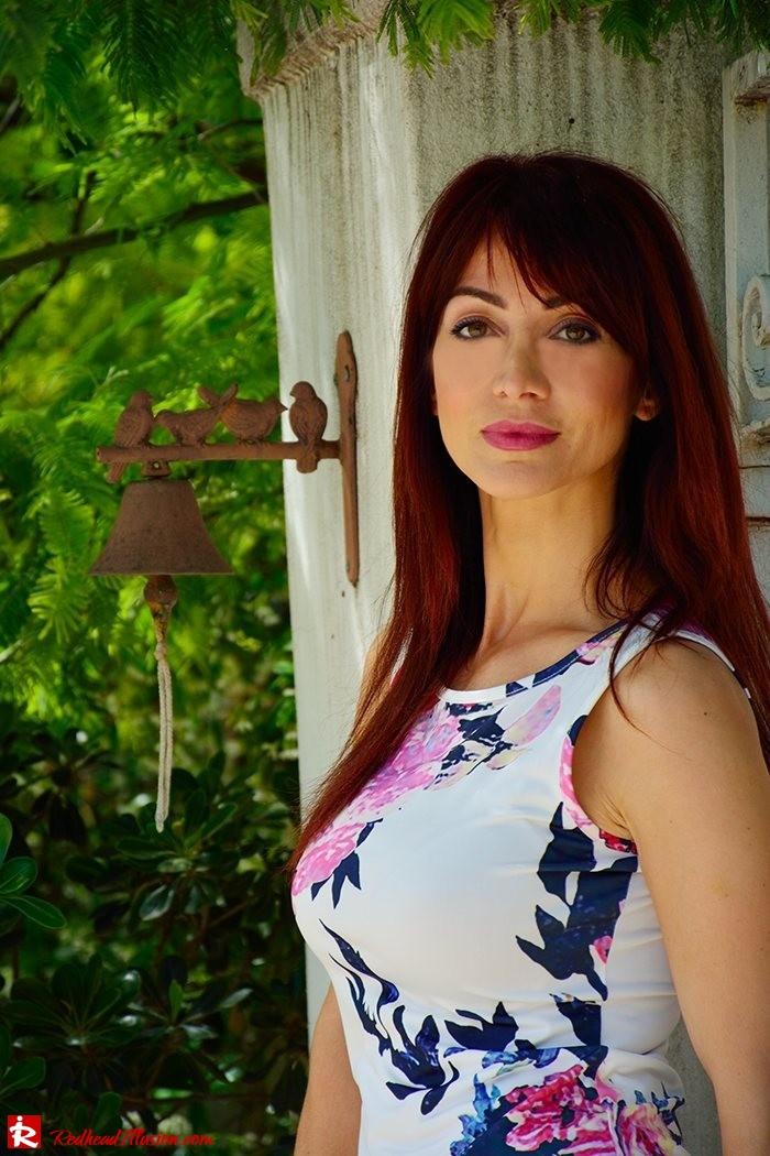 Redhead Illusion - Fashion Blog by Menia - Flower Explosion - Dresslink Sleeveles Floral Dress-05