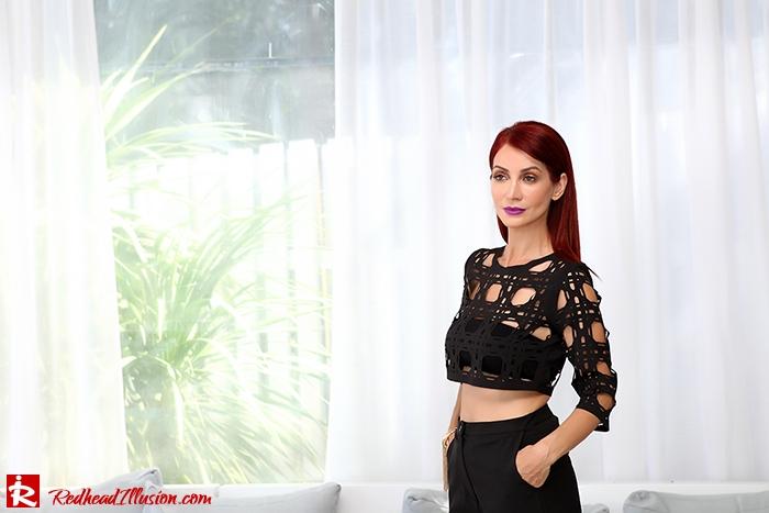 Redhead Illusion - Fashion Blog by Menia - Laser cut - Shorts - Mules - Crop Top-02