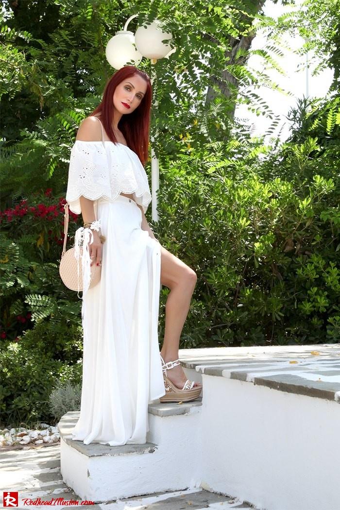 Redhead Illusion - Fashion Blog by Menia - A trip to white - Access Skirt - Jessica Simpson Wedges-15