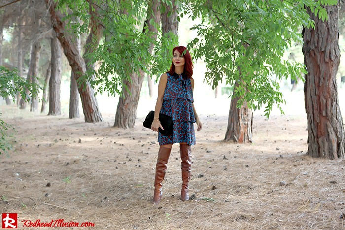 Redhead Illusion - Fashion Blog by Menia - Fall in Ruffles - Denny Rose Dress - Zara Bag - Over the knee Boots-03