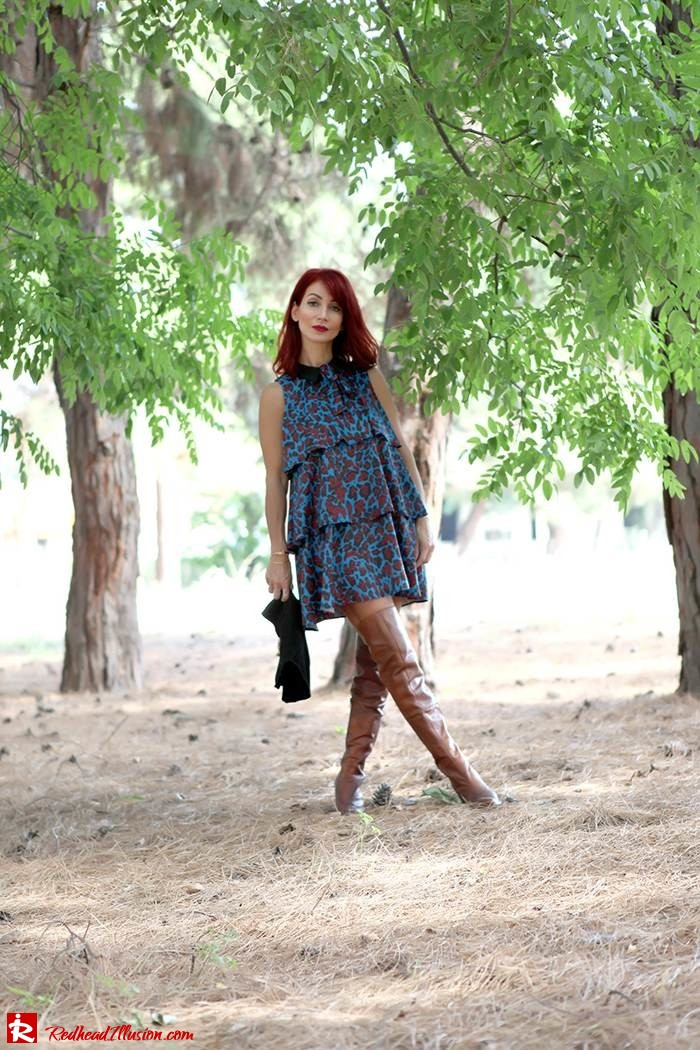 Redhead Illusion - Fashion Blog by Menia - Fall in Ruffles - Denny Rose Dress - Zara Bag - Over the knee Boots-09