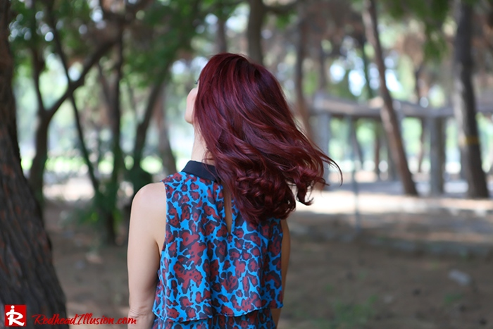 Redhead Illusion - Fashion Blog by Menia - Fall in Ruffles - Denny Rose Dress - Zara Bag - Over the knee Boots-10