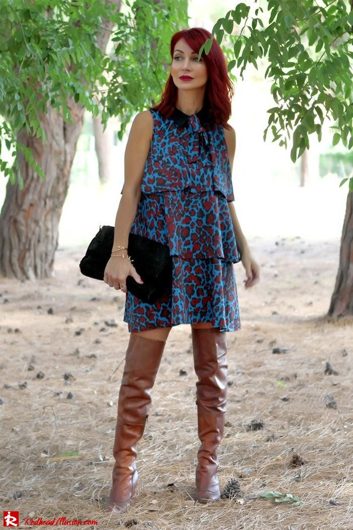 Redhead Illusion - Fashion Blog by Menia - Lately - October - 02 - Fall in ruffles - Denny Rose Dress - Zara Bag - Over the knee boots