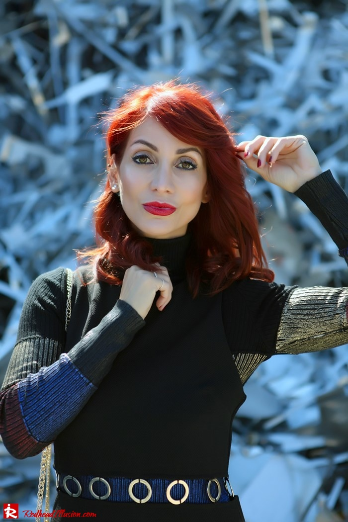 Redhead Illusion - Fashion Blog by Menia - Layering - Denny Rose - Blouse over the knee Boots-10