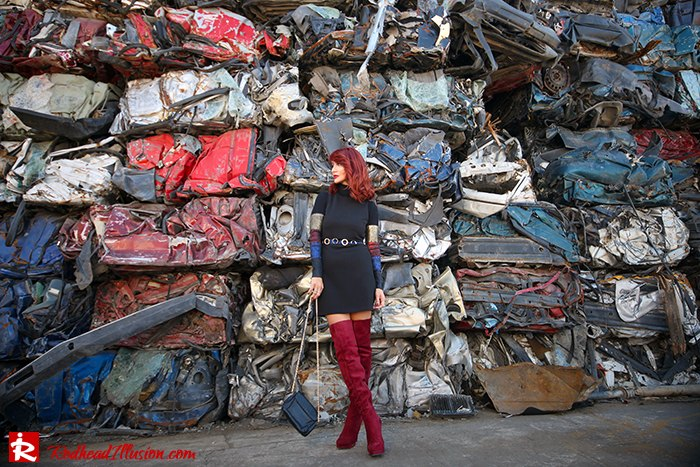 Redhead Illusion - Fashion Blog by Menia - Layering - Denny Rose - Blouse over the knee Boots-11