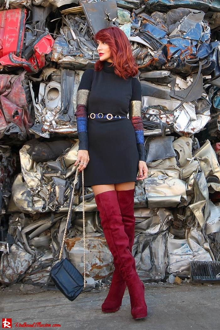Redhead Illusion - Fashion Blog by Menia - Layering - Denny Rose - Blouse over the knee Boots-12