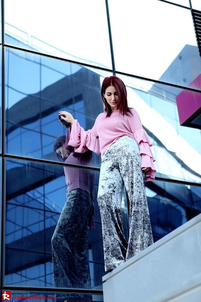 Redhead Illusion - Fashion Blog by Menia - Fade to grey - Zara Velvet Pants - Denny Rose Blouse-07
