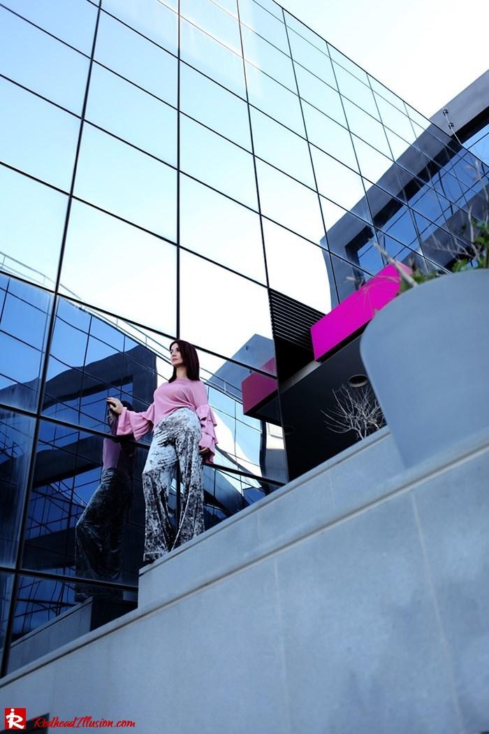 Redhead Illusion - Fashion Blog by Menia - Fade to grey - Zara Velvet Pants - Denny Rose Blouse-08
