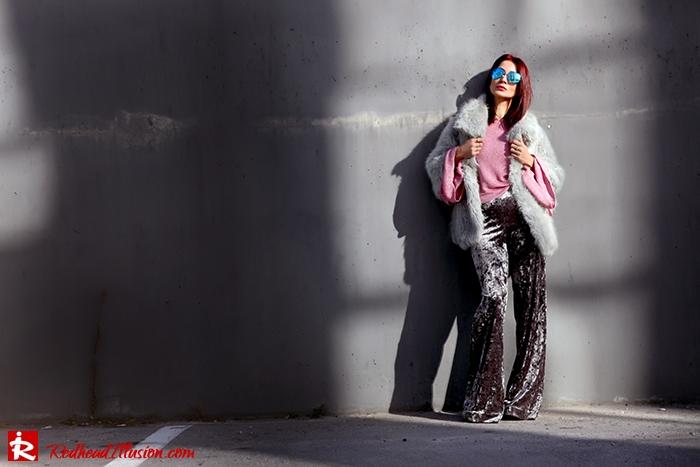 Redhead Illusion - Fashion Blog by Menia - Fade to grey - Zara Velvet Pants - Denny Rose Blouse-09