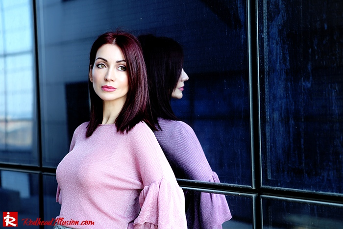 Redhead Illusion - Fashion Blog by Menia - Fade to grey - Zara Velvet Pants - Denny Rose Blouse-11