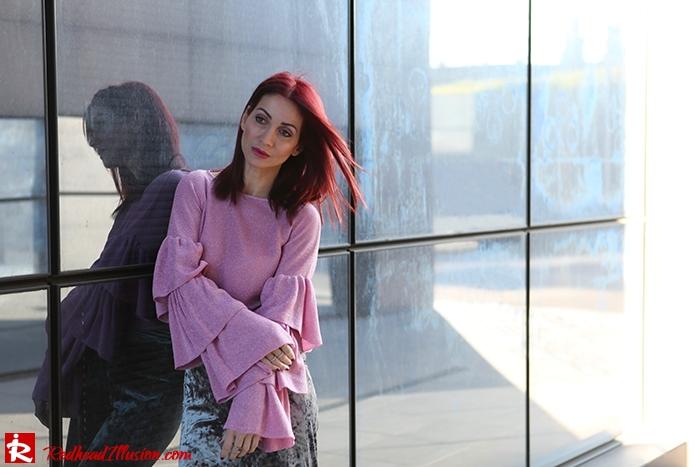 Redhead Illusion - Fashion Blog by Menia - Fade to grey - Zara Velvet Pants - Denny Rose Blouse-12
