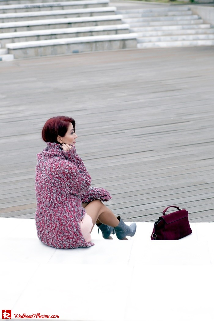 Redhead Illusion - Fashion Blog by Menia - Pink Affair - Knitted Sweater- Shein Skirt - Zara Booties-07