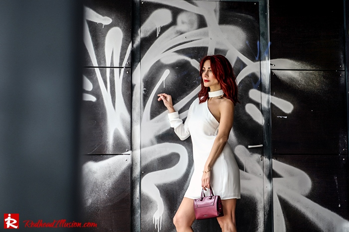 Redhead Illusion - Fashion Blog by Menia - Mini Winter White - Missguided Dress-03