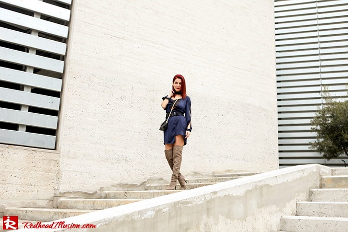 Redhead Illusion - Fashion Blog by Menia - Blues and Greys - Missguided Dress-07
