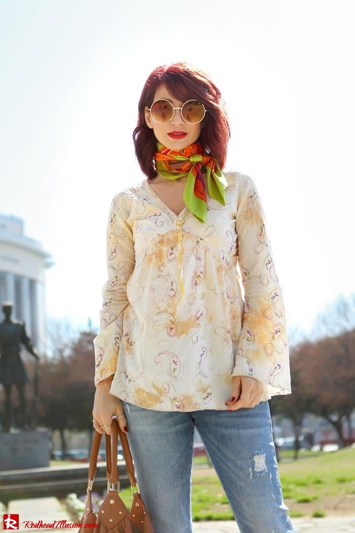 Redhead Illusion - Fashion Blog by Menia - Spring Fever - Jeans, Mules Zara - Scarf Hermes-04