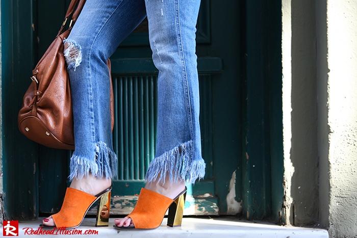 Redhead Illusion - Fashion Blog by Menia - Spring Fever - Jeans, Mules Zara - Scarf Hermes-06