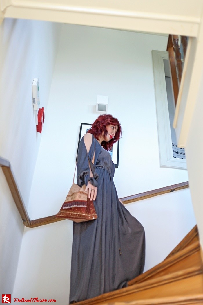 Redhead Illusion - Fashion Blog by Menia - A sense of relaxation - Lulus Maxi Dress-05