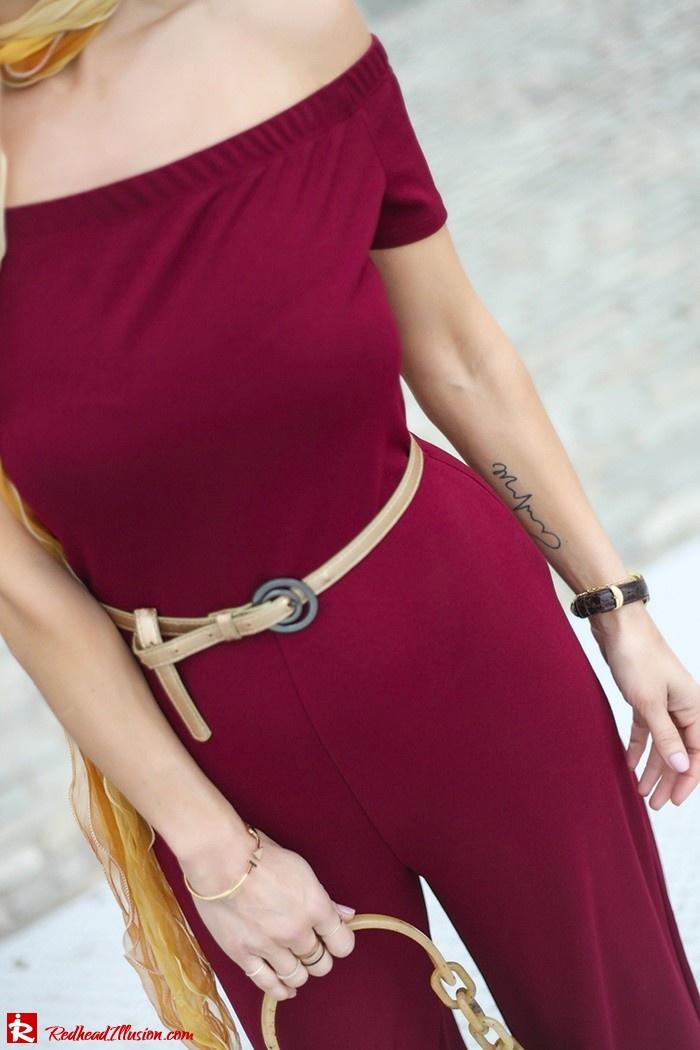Redhead Illusion - Fashion Blog by Menia - Bordeaux - Lulu's Jumpsuit-05