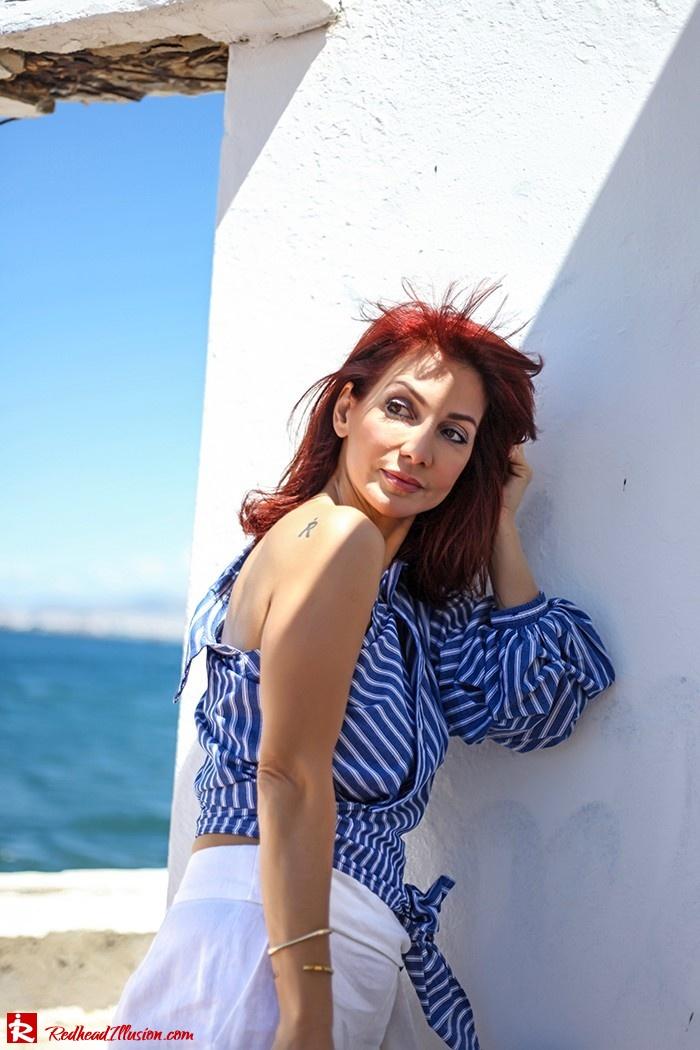 Redhead Illusion - Fashion Blog by Menia - Deconstruction - Shein Shirt-05