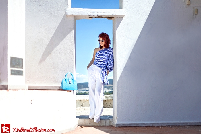 Redhead Illusion - Fashion Blog by Menia - Deconstruction - Shein Shirt-07