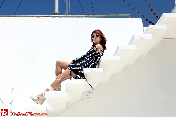 Redhead Illusion - Fashion Blog by Menia - Stripe...tease - Zara Dress and H&M Espadrilles-05