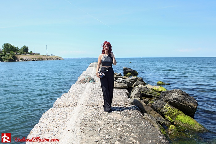 Redhead Illusion - Fashion Blog by Menia - Total Black is never boring - Zara Pants - Ted Baker Bag-13